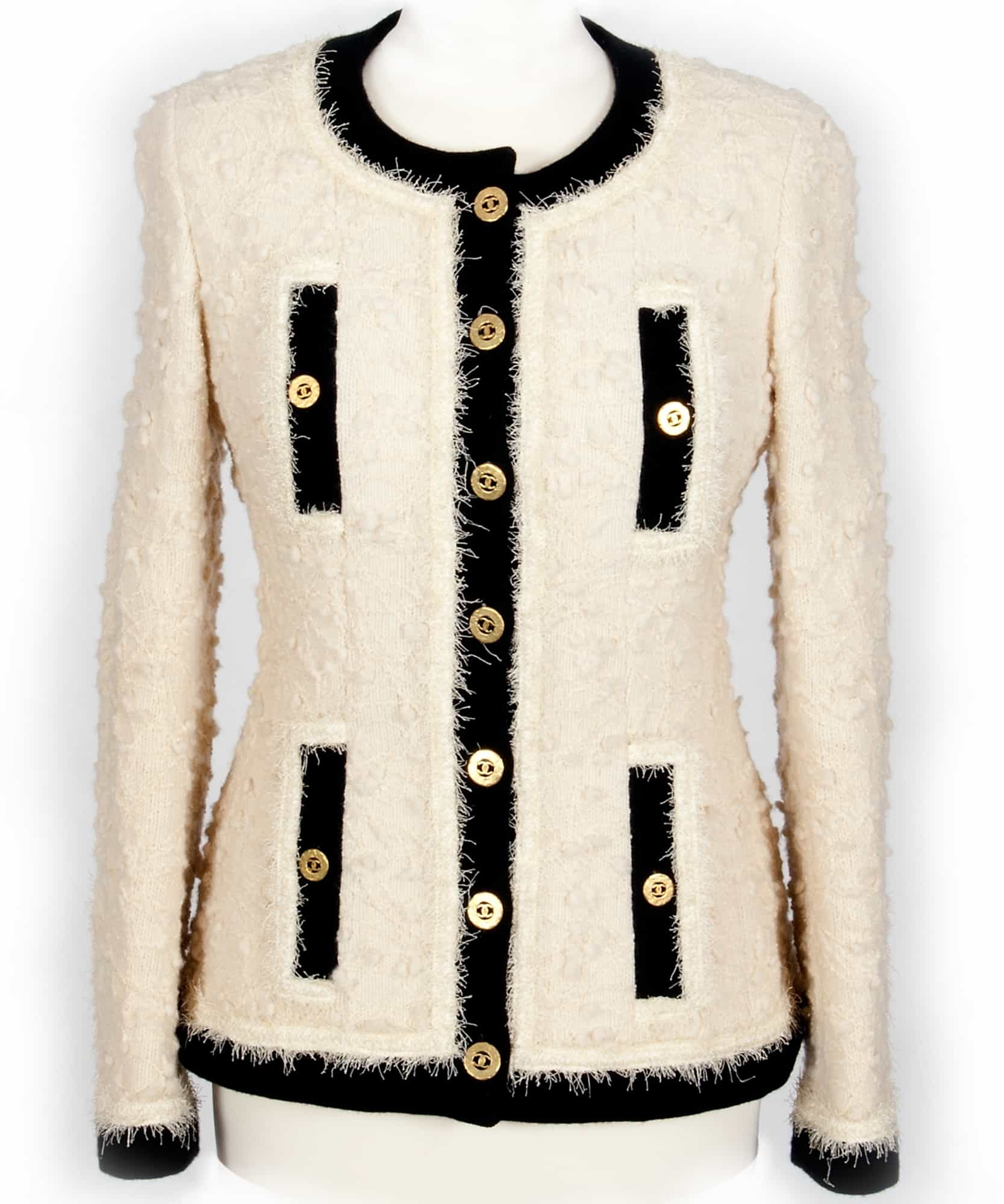 Bouclé is a uniquely modern knit born of 20th Century fashion royalty, the legendary French designer Coco Chanel.