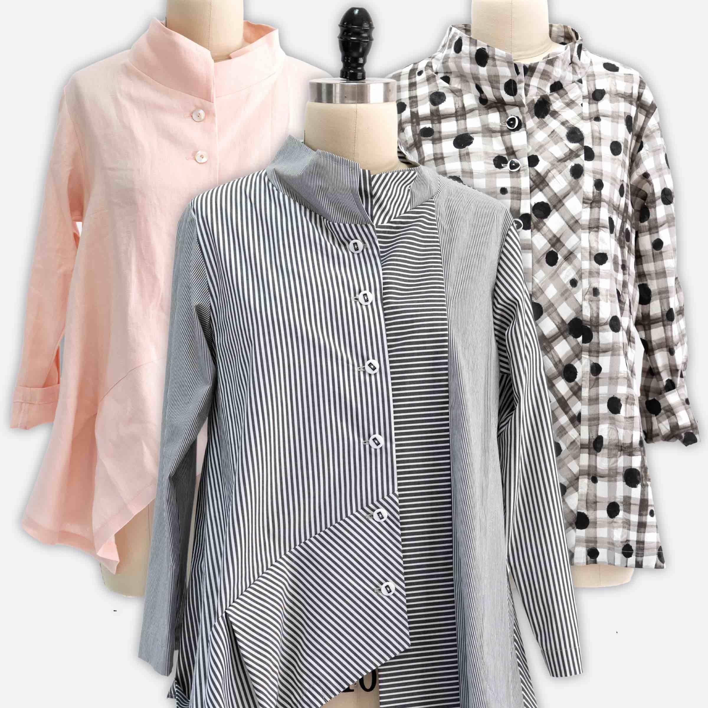 Marcy Tilton's sewing tips for her V1784 shirt design for Vogue Patterns.