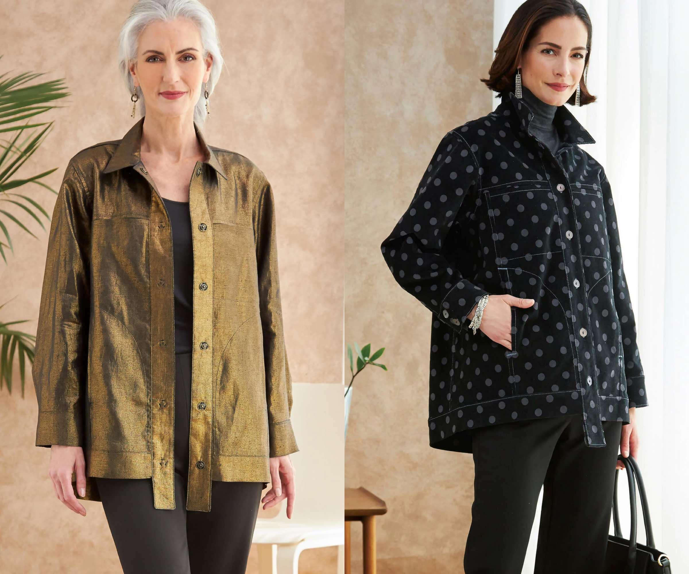 Butterick fashion designer Katherine Tilton shares sewing tips for her contemporary jean jacket design V6719