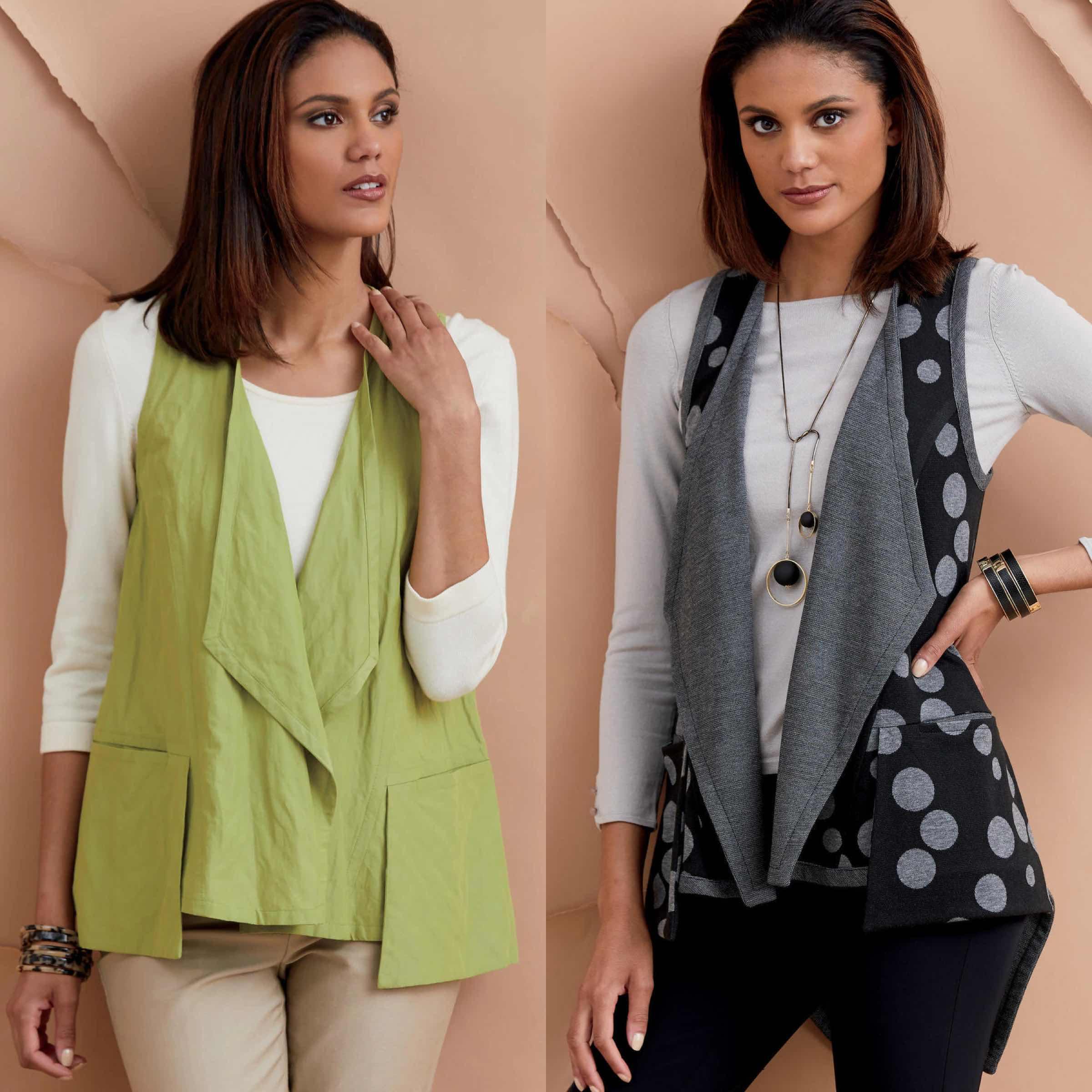 Vogue Patterns fashion designer Marcy Tilton offers sewing tips on how to make her Pocket Vest design pattern V9322.