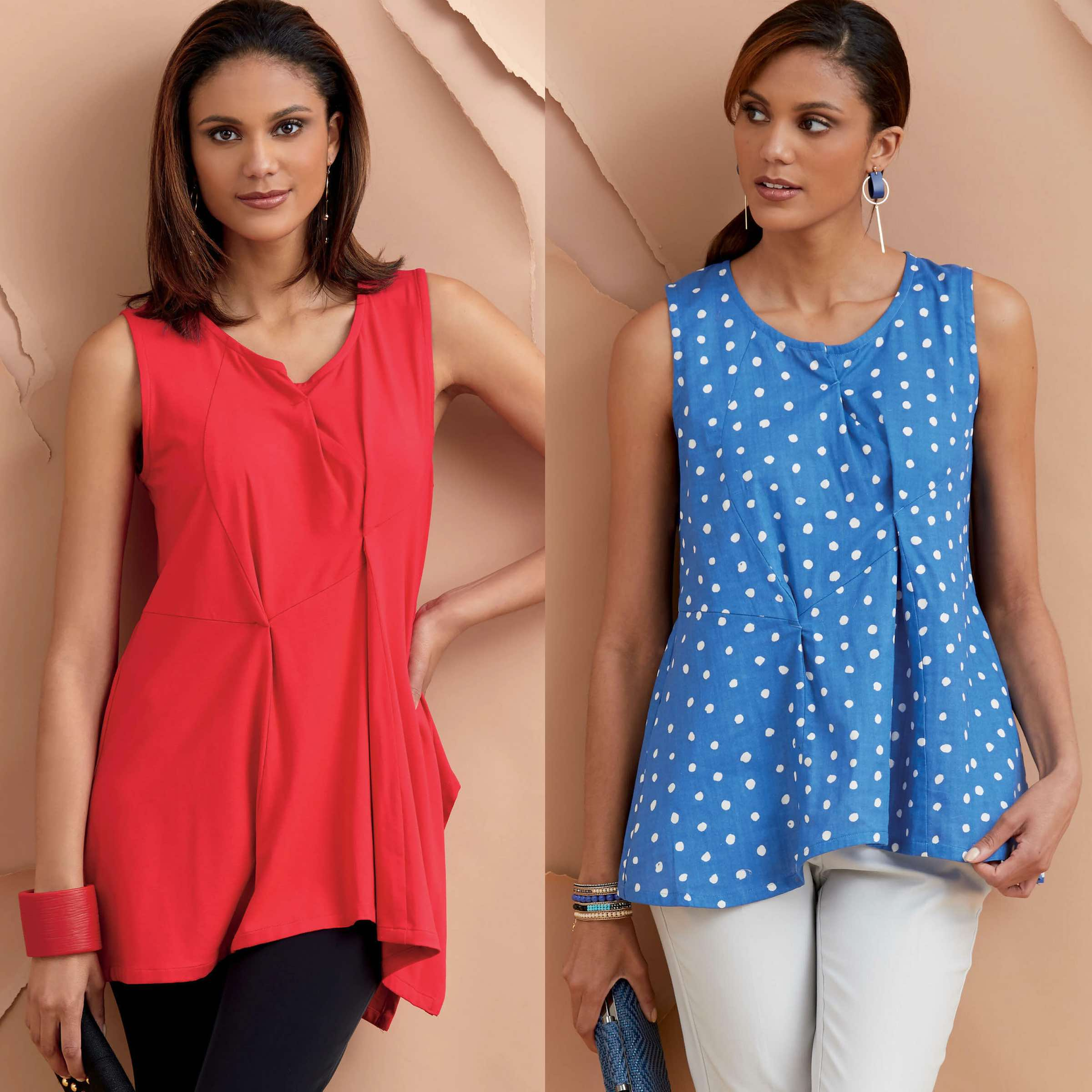 Vogue Patterns fashion designer Marcy Tilton shares sewing tips for her Tuck Tank Tunic pattern V9317 available from Vogue Patterns.