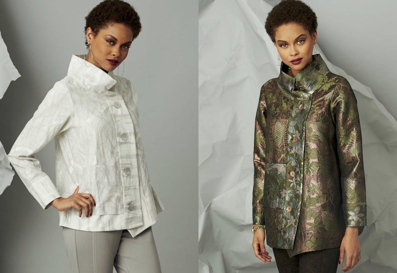 Marcy Tilton shares sewing tips for her Crossover Jacket pattern design V9287 for  Vogue Patterns