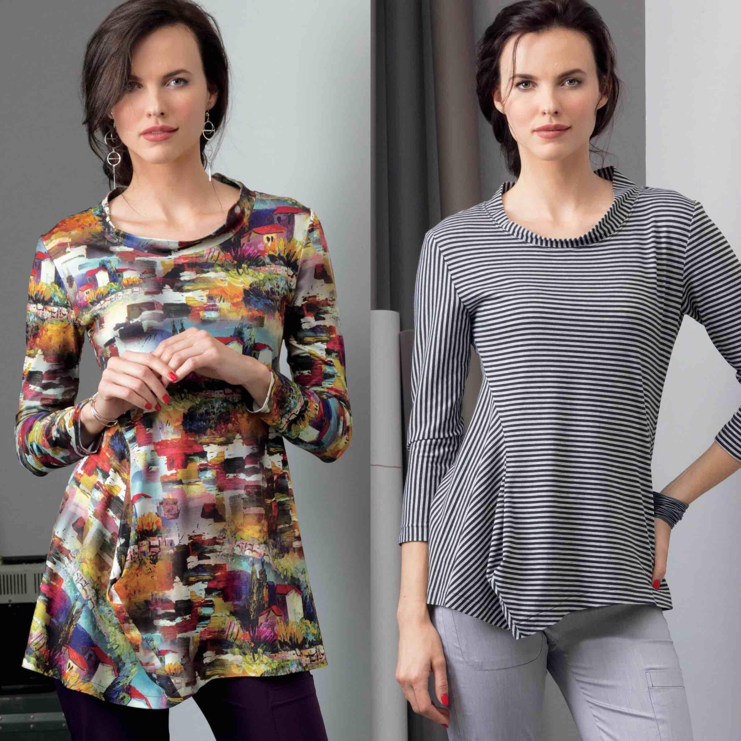 Vogue Patterns fashion designer Marcy Tilton shares sewing tips for her tunic pattern design V9300.